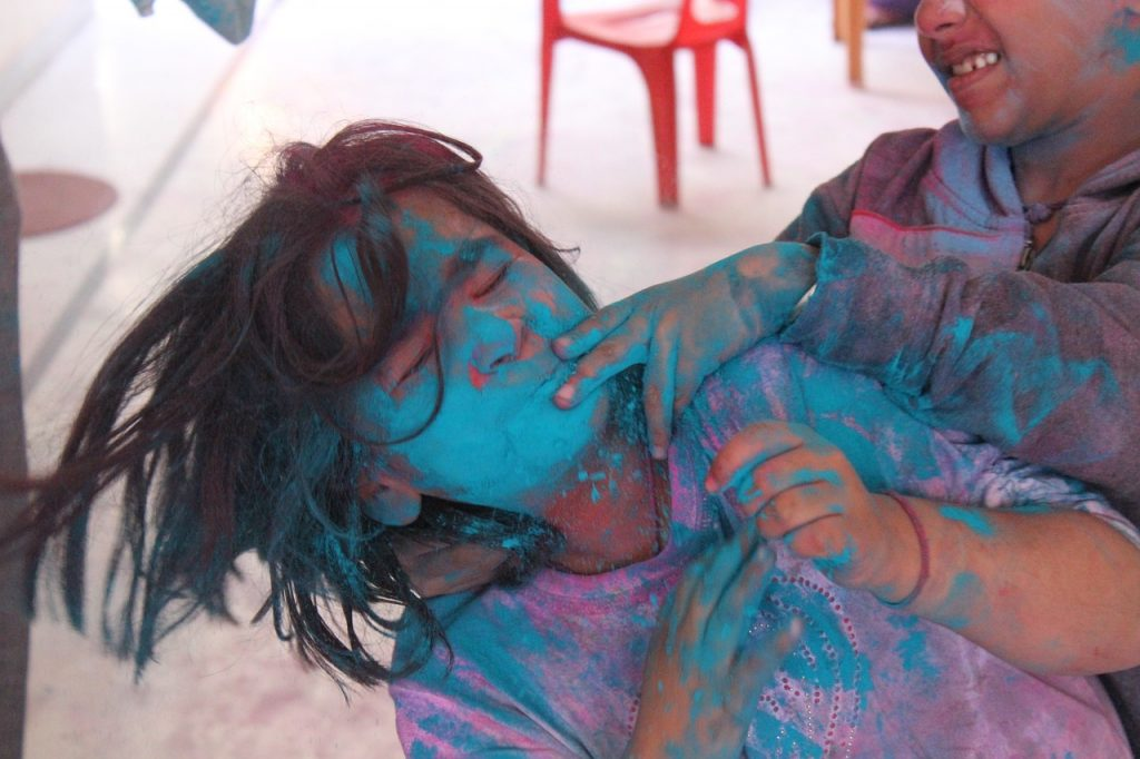 HOLI, FESTIVAL OF COLORS IN RAJASTHAN, INDIA: